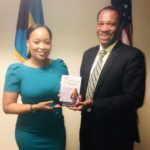 Kirk Johnson with Bahamas Consul General Atlanta, Astra Ambrister-Rolle